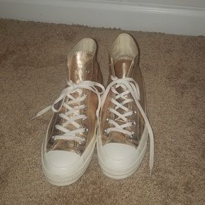 Glittery Gold Women's Sneakers